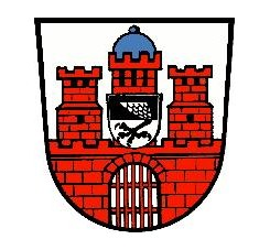 Wappen von Bad Kissingen - Ursprungsort des Heilwassers Kissingen Auqa